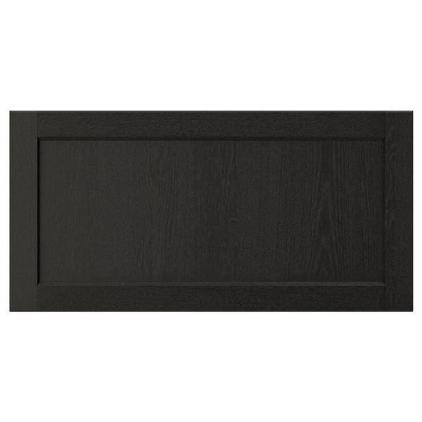 LERHYTTAN Drawer front, black stained, 80x40 cm