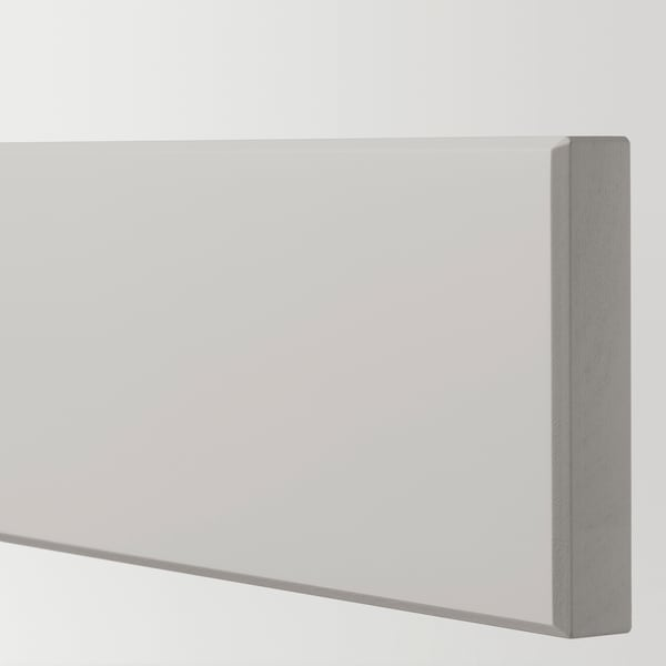 LERHYTTAN Drawer front, light grey, 60x10 cm