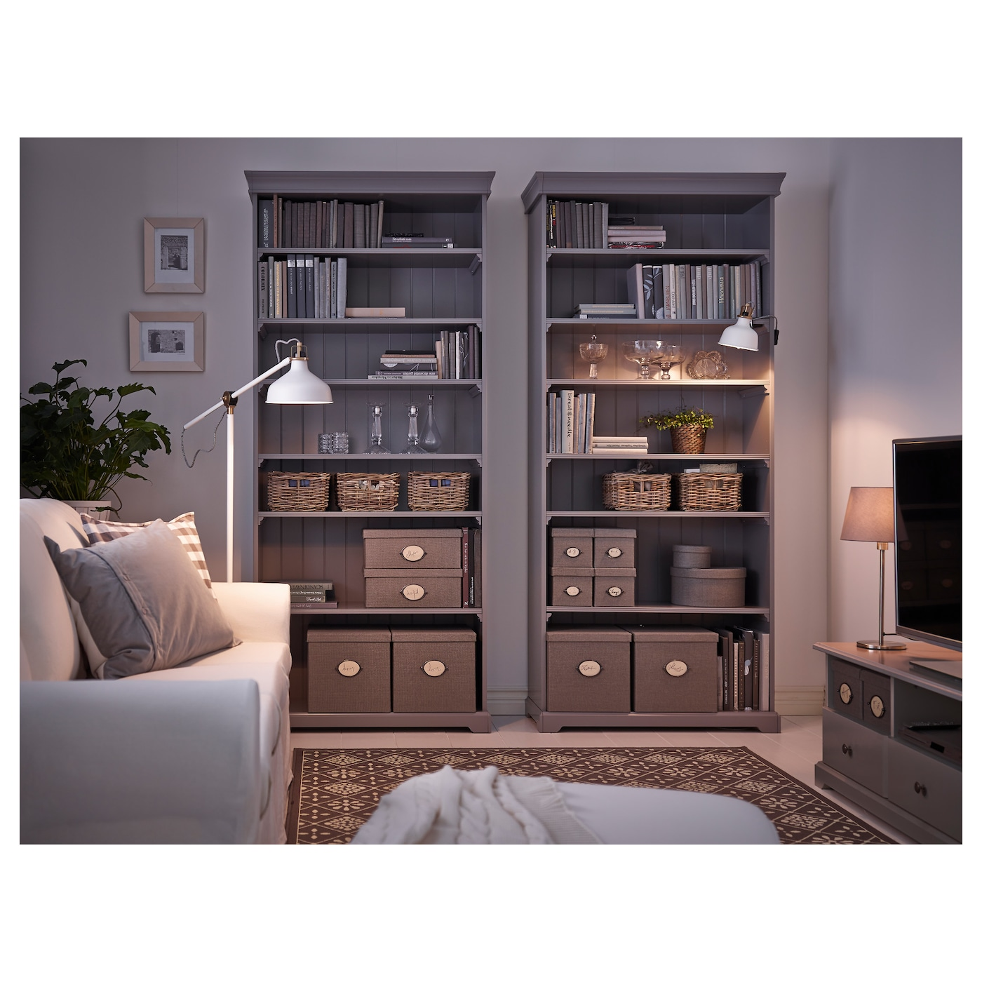 liatorp bookcase grey 96 x 214 cm ikea. Black Bedroom Furniture Sets. Home Design Ideas