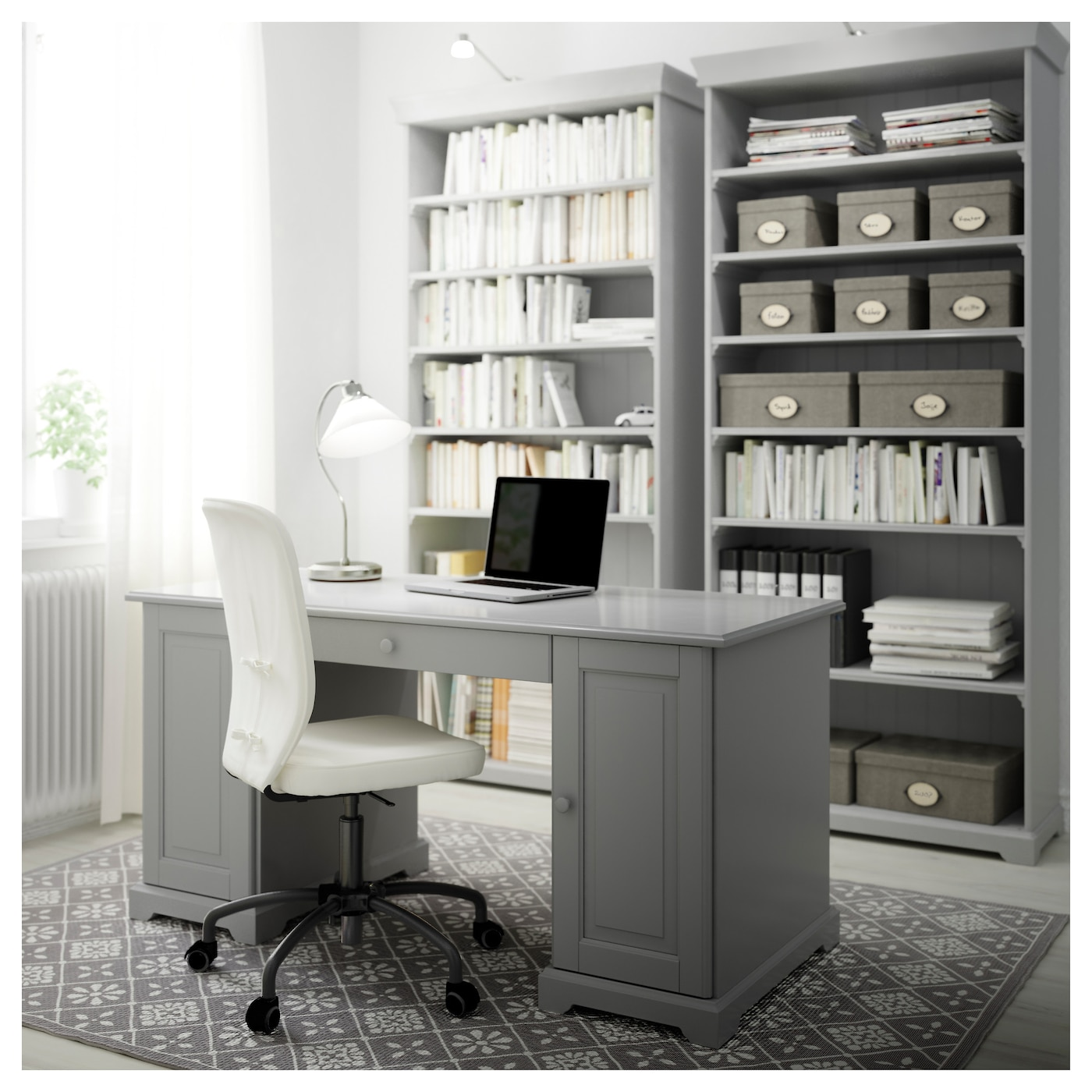 office furniture ikea liatorp bookcase grey 96 x 214 cm ikea 23931