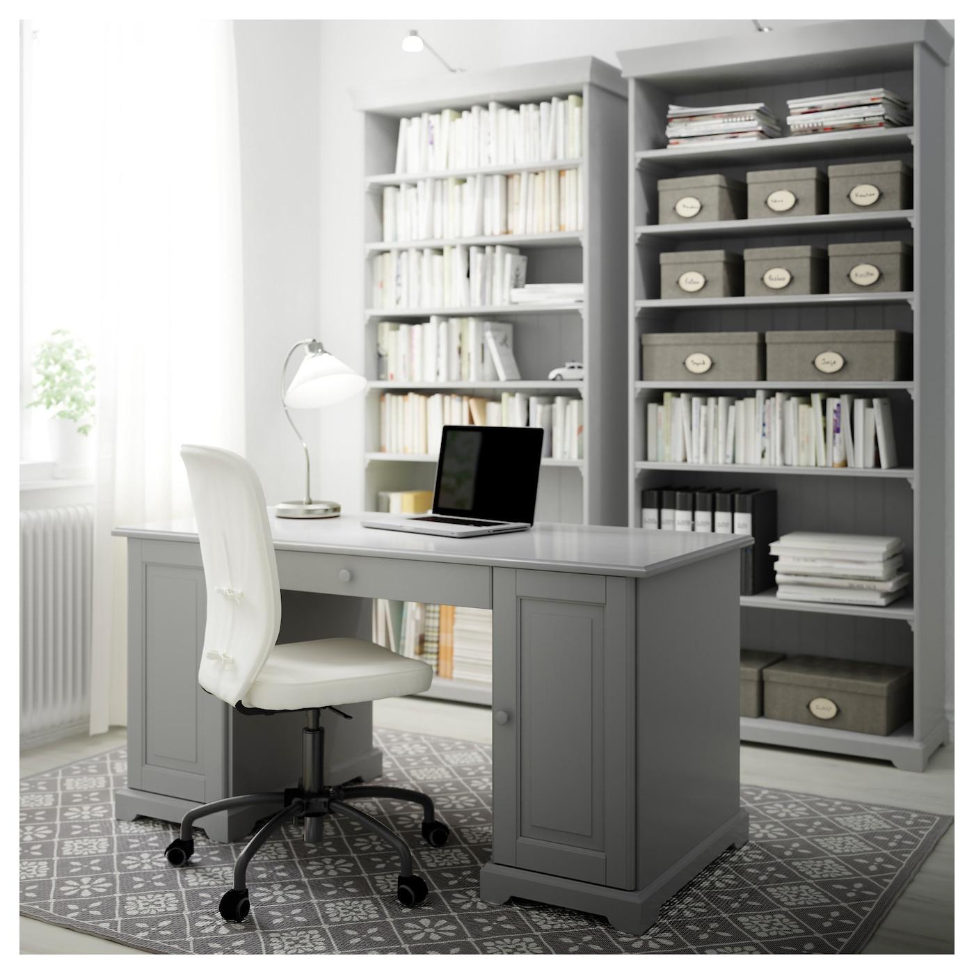 Liatorp bookcase grey 96x214 cm ikea for Ikea furniture office