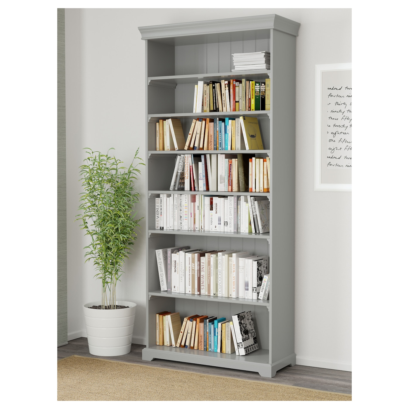 liatorp bookcase grey 96 x 214 cm ikea. Black Bedroom Furniture Sets. Home Design Ideas