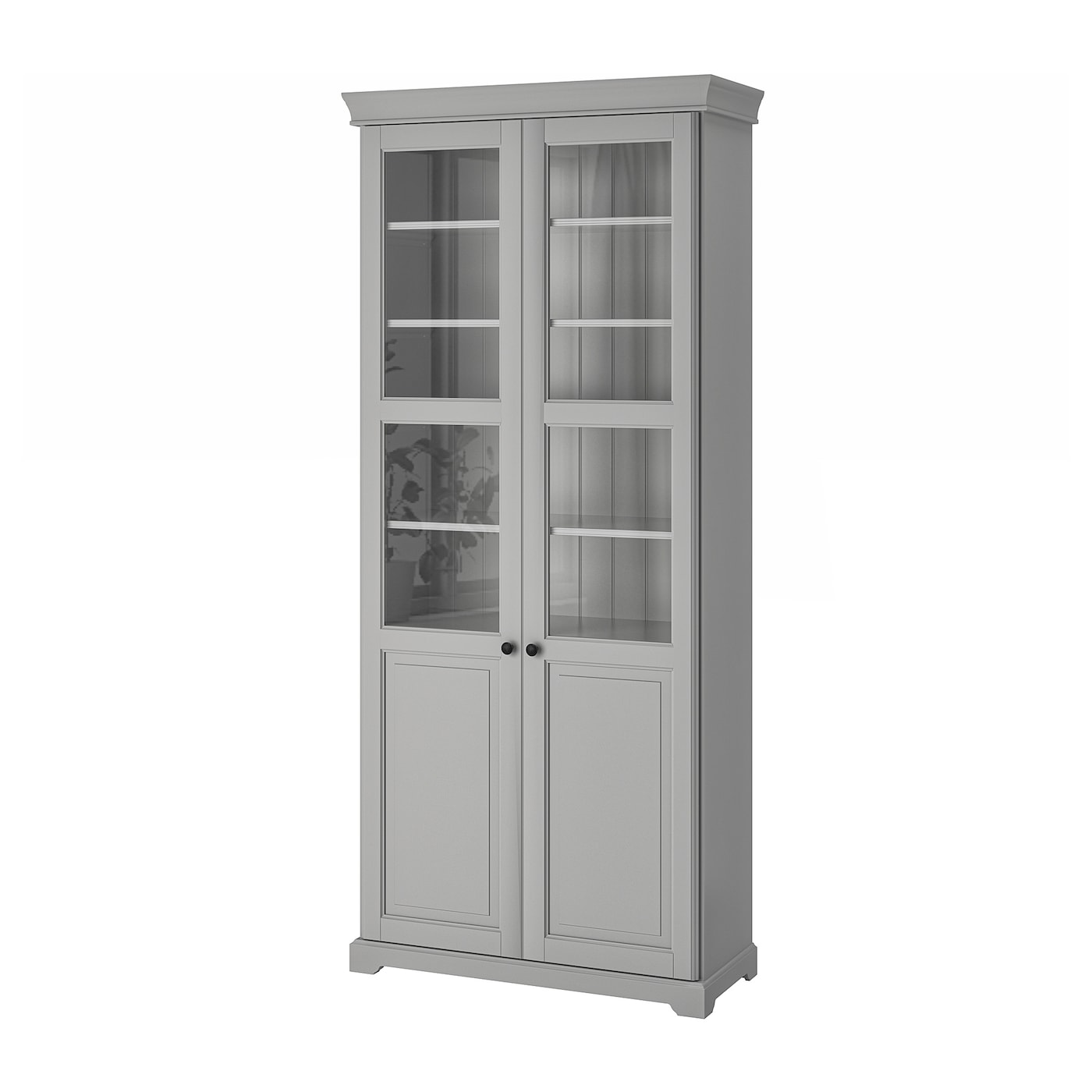 liatorp bookcase with glass doors grey 96 x 214 cm ikea. Black Bedroom Furniture Sets. Home Design Ideas