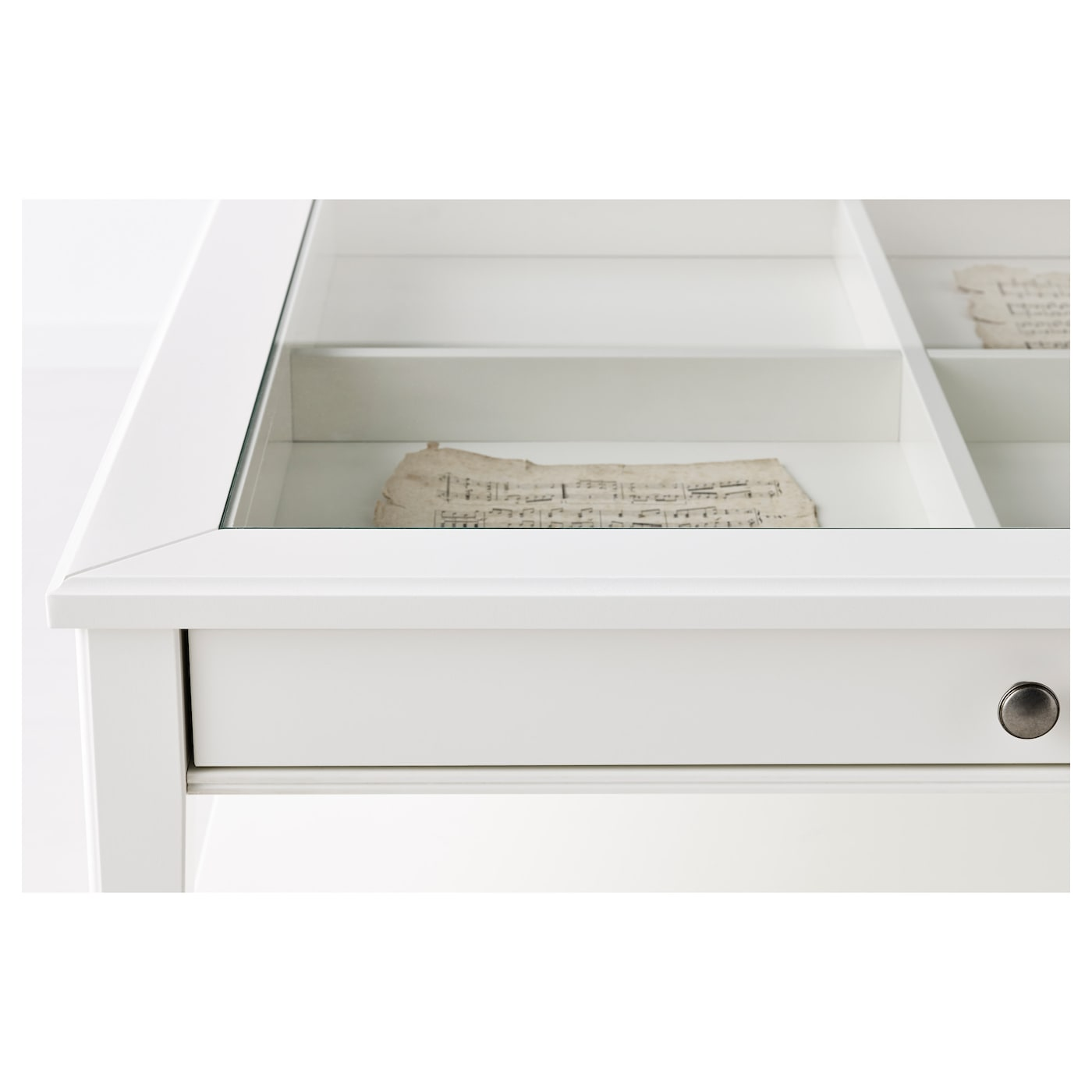 LIATORP Coffee table White glass 93x93 cm IKEA