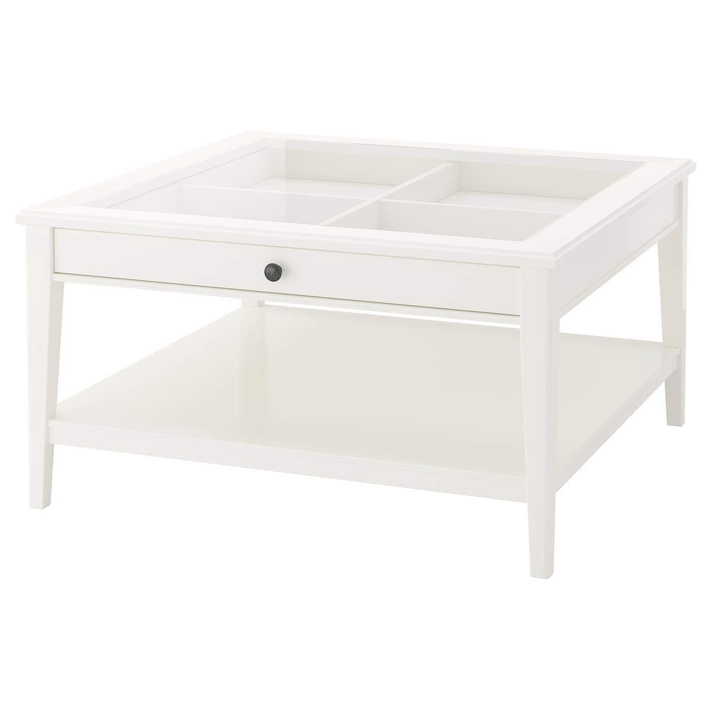 Liatorp Coffee Table White Glass Ikea