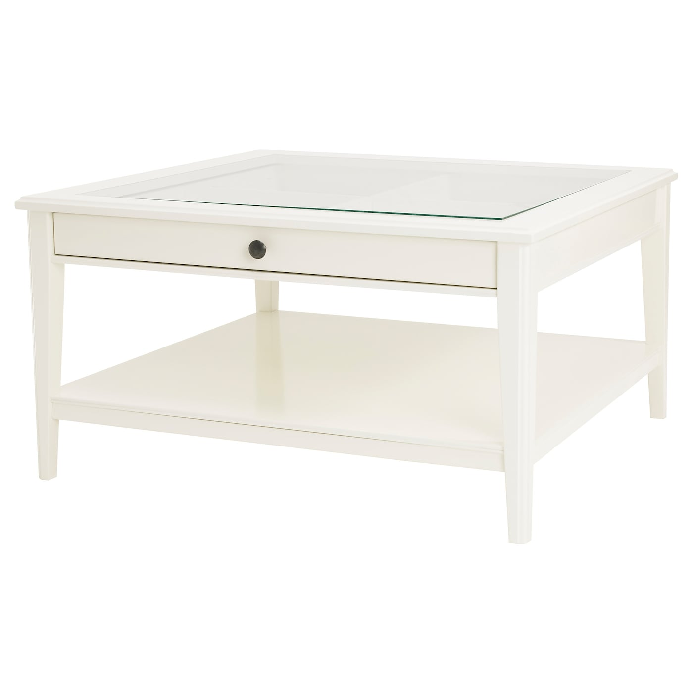 Liatorp coffee table whiteglass 93x93 cm ikea ikea liatorp coffee table practical storage space underneath the table top geotapseo Choice Image