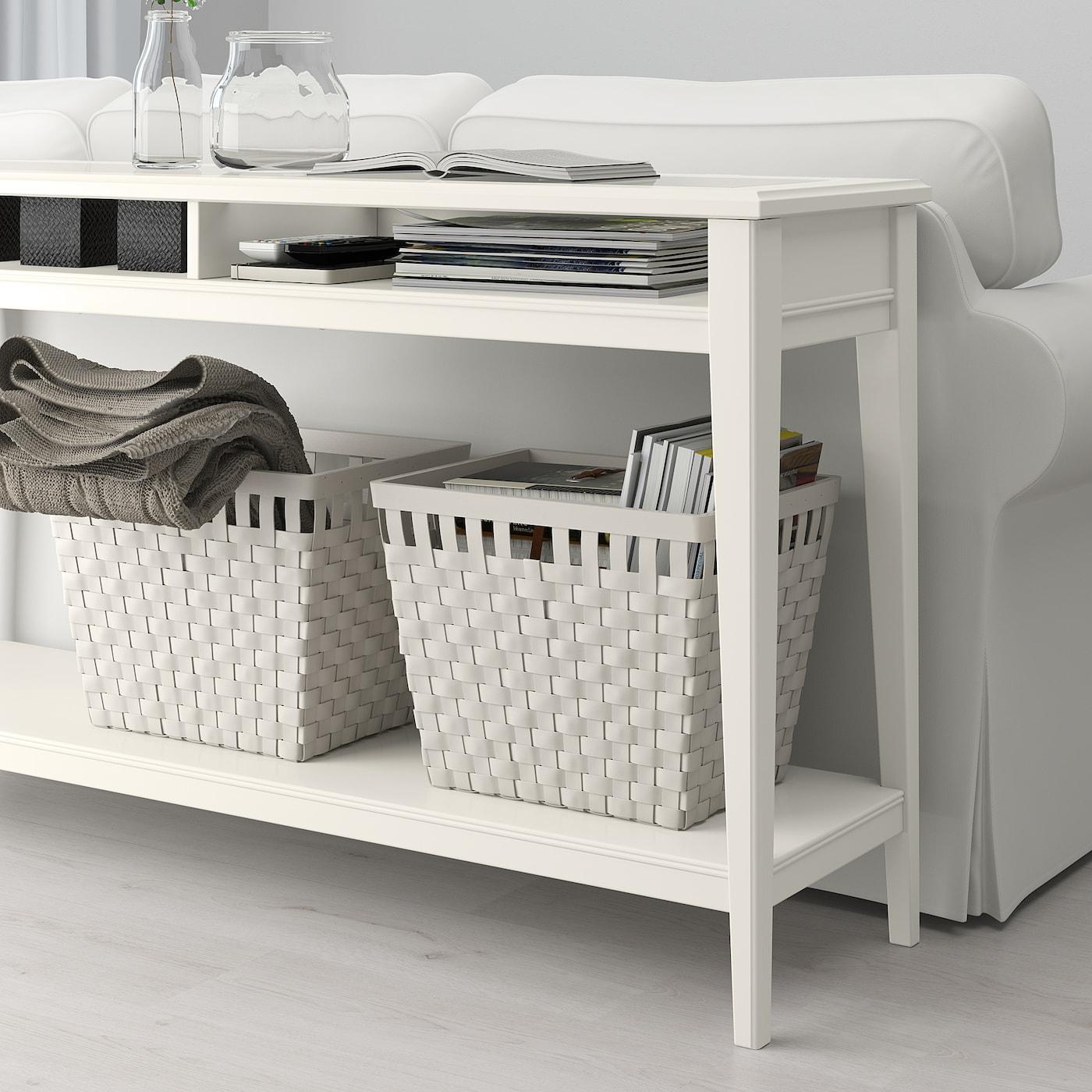 Liatorp White Gl Console Table