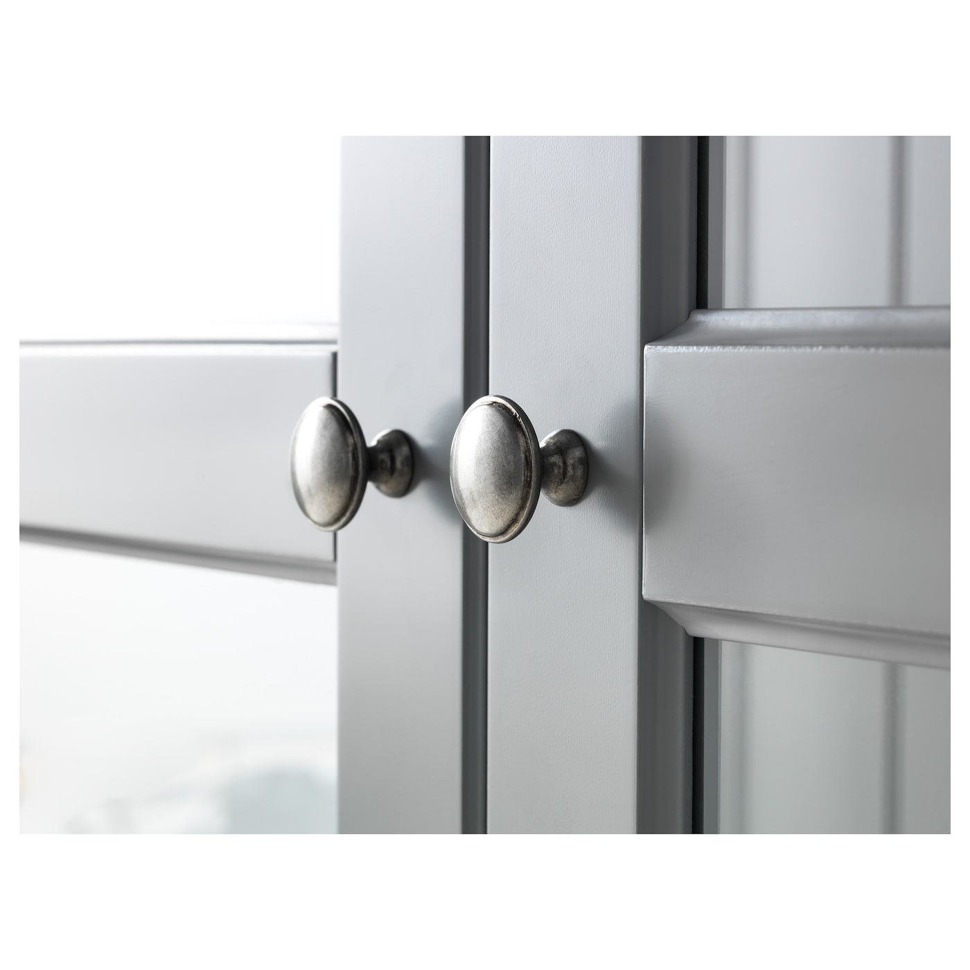 grey display cabinet