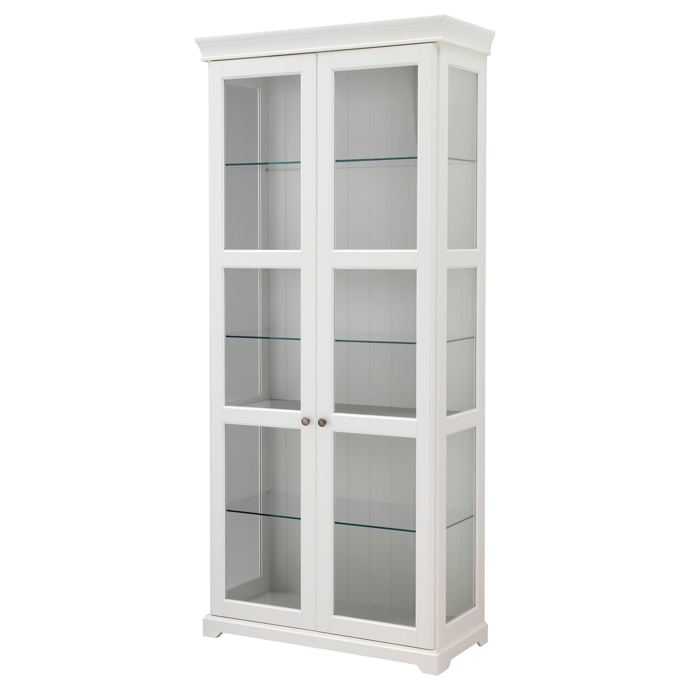 storage cabinets with glass doors liatorp glass door cabinet white 96x214 cm ikea 26855