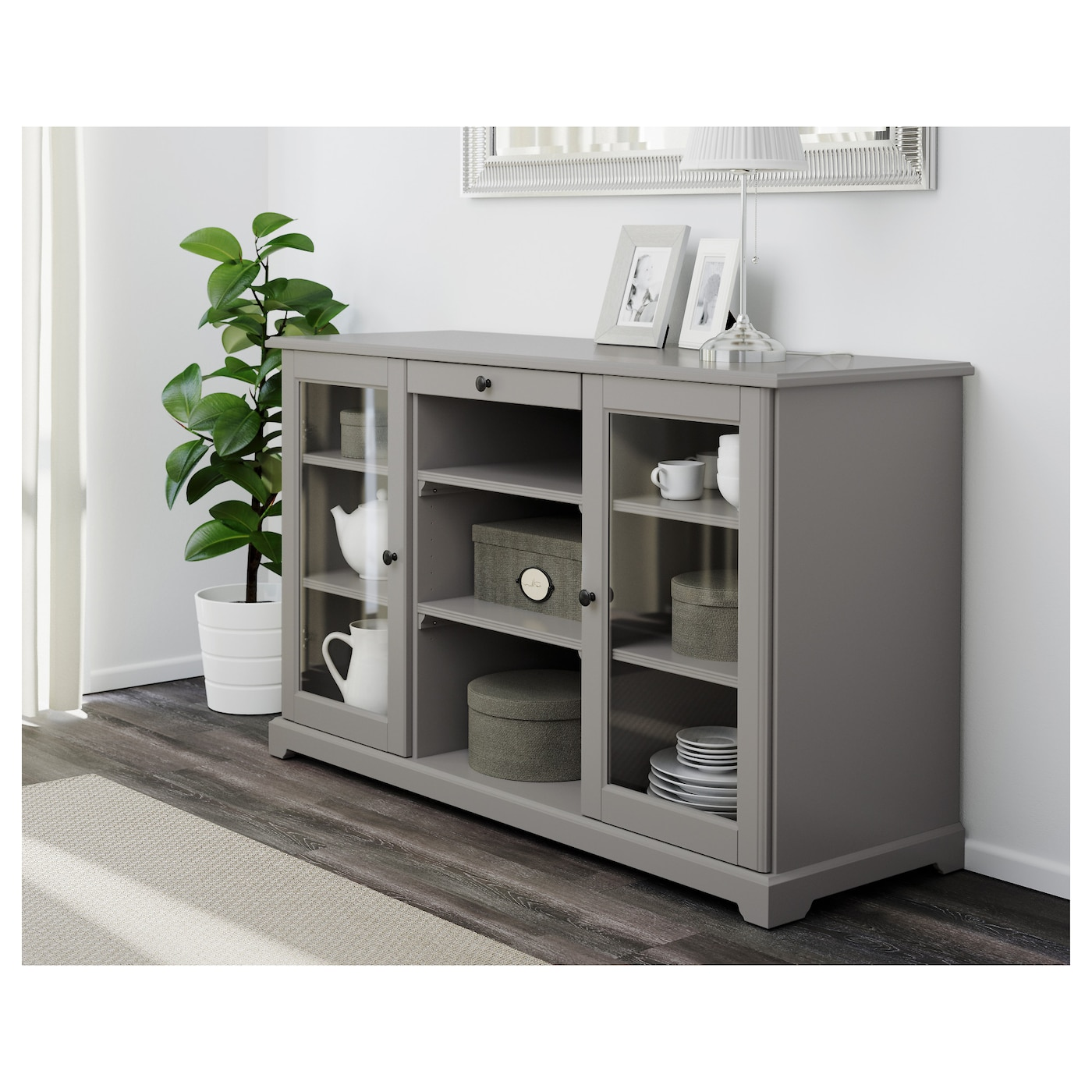 liatorp sideboard grey 145x87 cm ikea. Black Bedroom Furniture Sets. Home Design Ideas