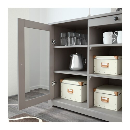 liatorp sideboard grey 145x87 cm ikea