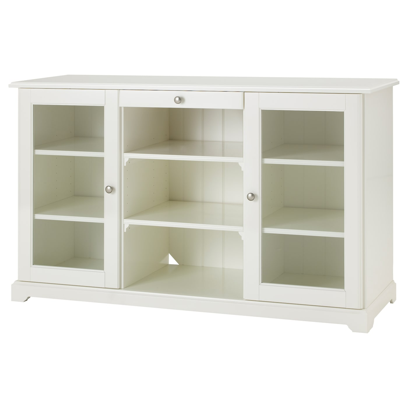 Liatorp sideboard white 145x87 cm ikea for Meuble vitrine ikea