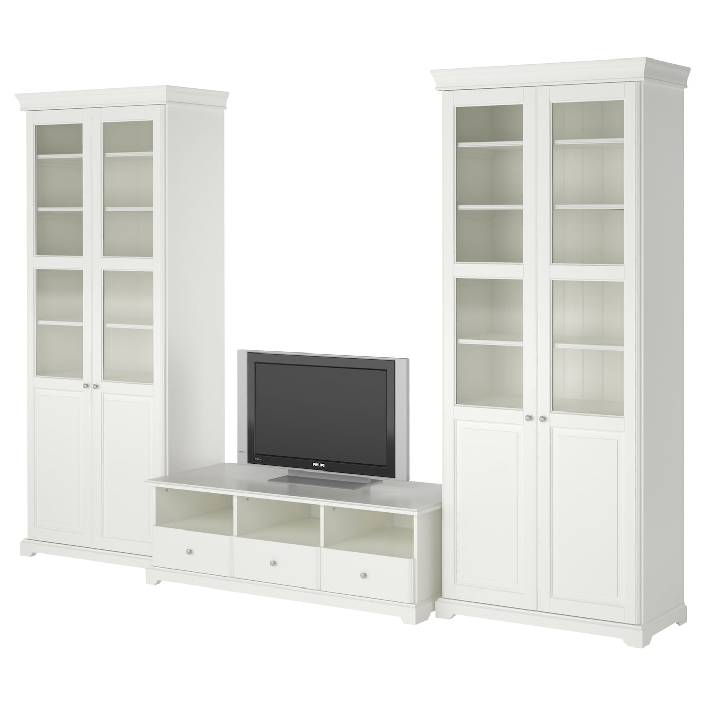 Liatorp tv storage combination white 331x214 cm ikea - Ikea tv wand ...