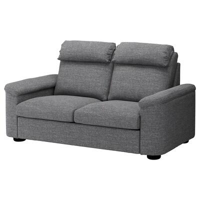 LIDHULT 2-seat sofa, Lejde grey/black