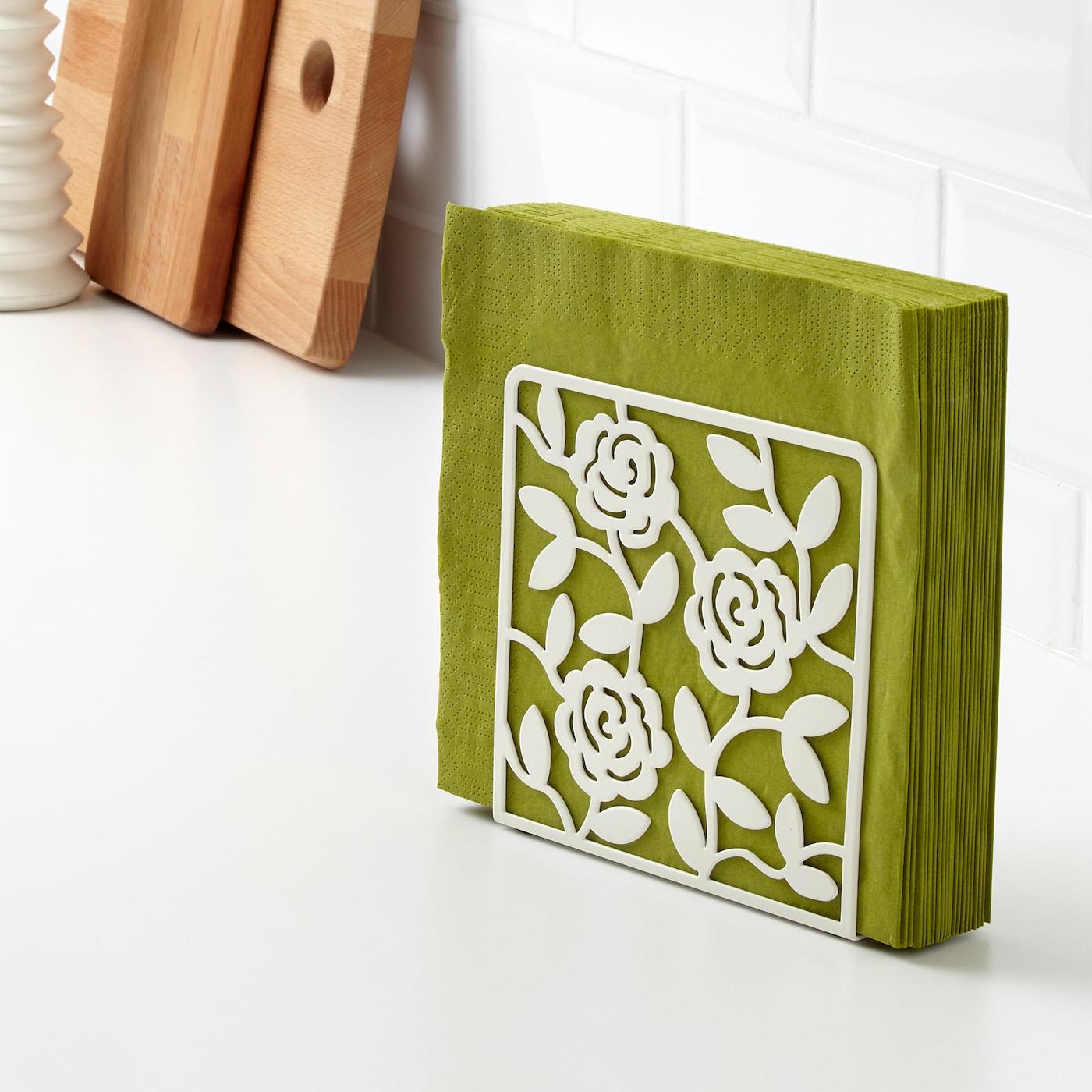 Liksidig White Napkin Holder Ikea
