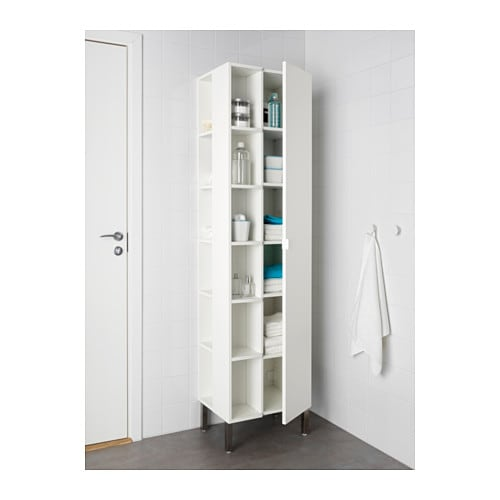 lill ngen high cabinet 1 door 2 end units white 50x38x194 cm ikea. Black Bedroom Furniture Sets. Home Design Ideas