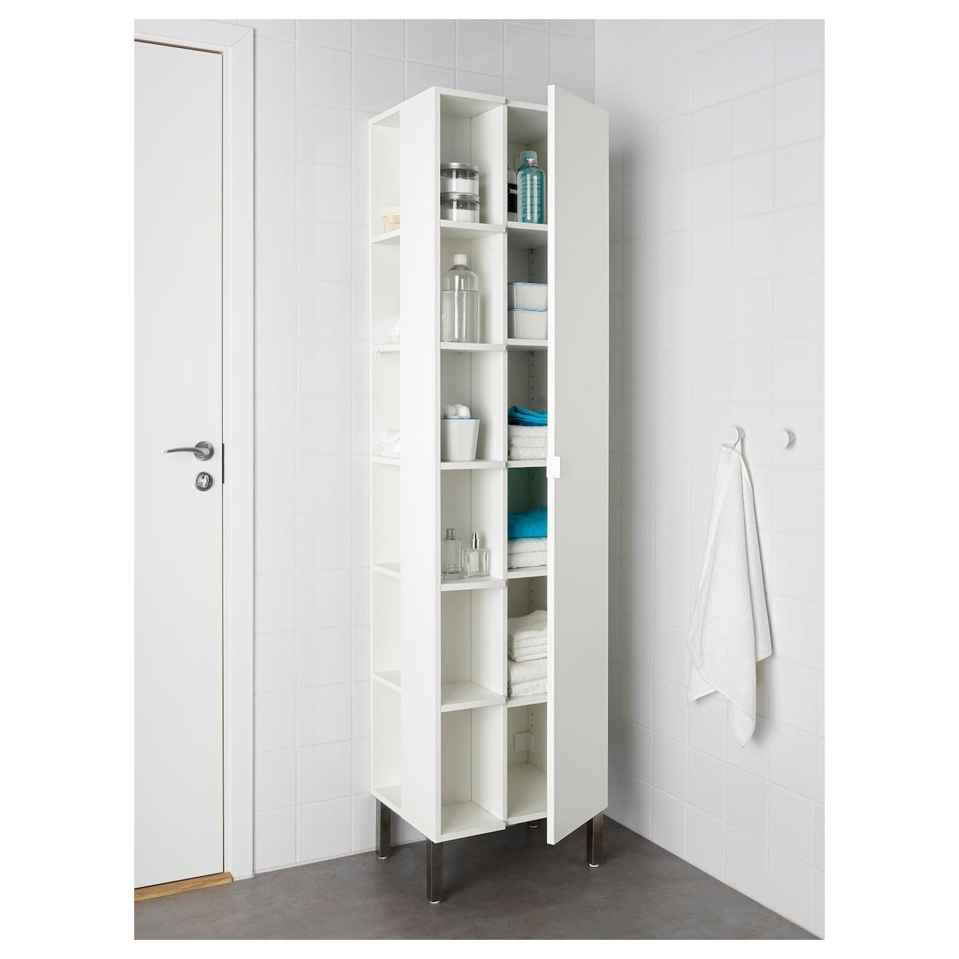 lill ngen high cabinet 1 door 2 end units white 49x38x194 cm ikea. Black Bedroom Furniture Sets. Home Design Ideas