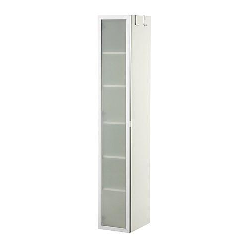 LILLÅNGEN High cabinet White/aluminium 30 x 38 x 179 cm - IKEA