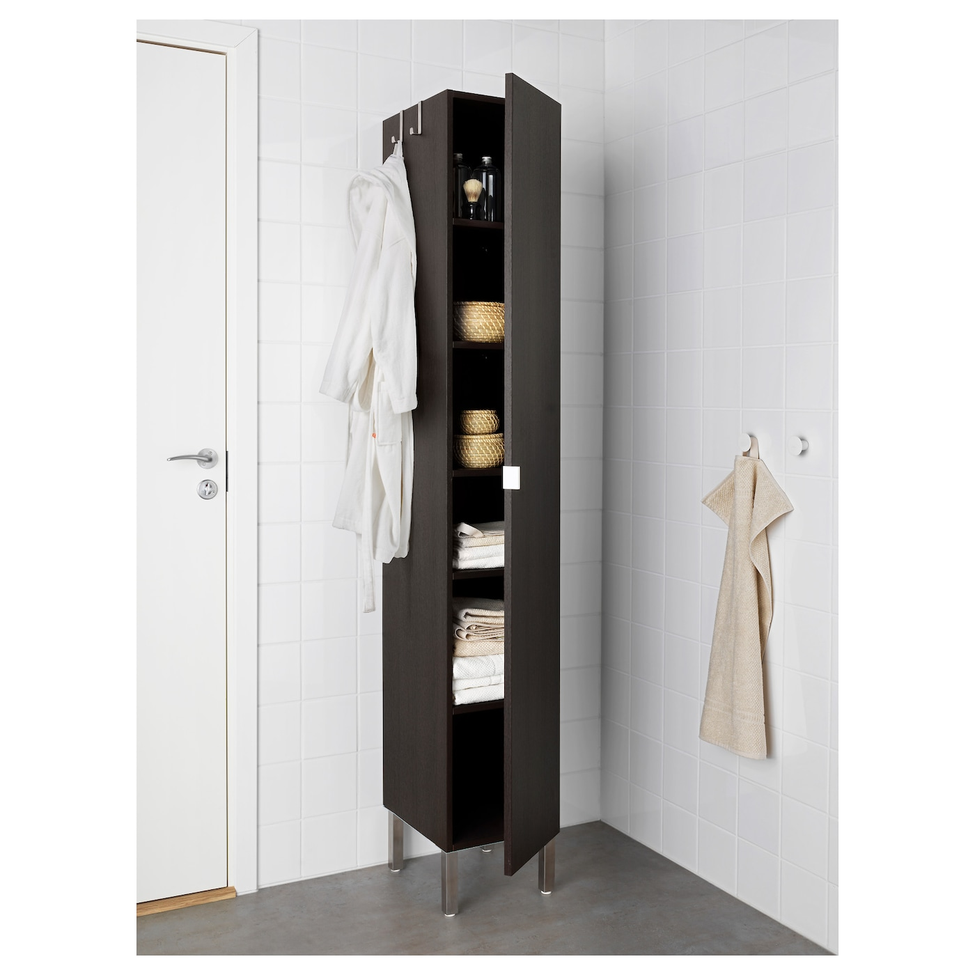 IKEA LILLÅNGEN high cabinet with 1 door Perfect where space is limited since the cabinet is shallow.