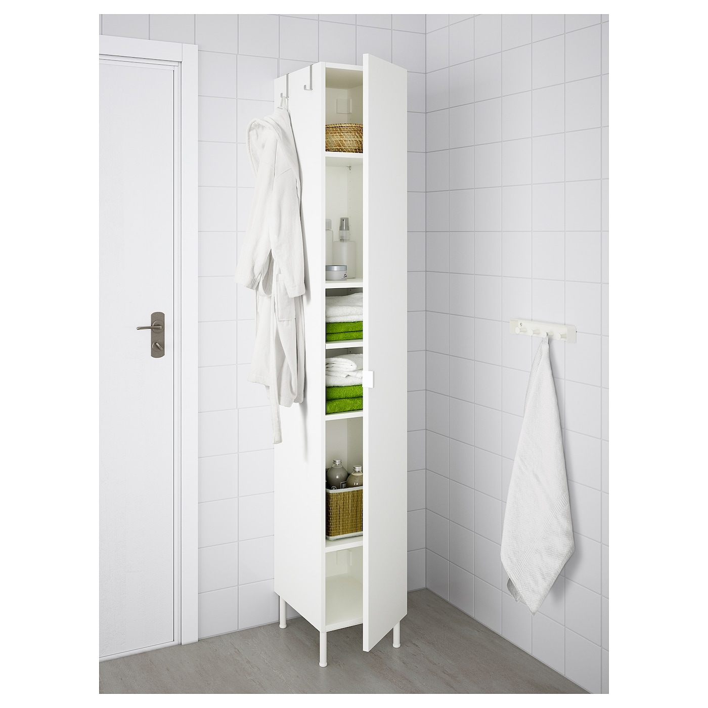 IKEA LILLÅNGEN high cabinet with 1 door You can mount the door to open from the right or left.