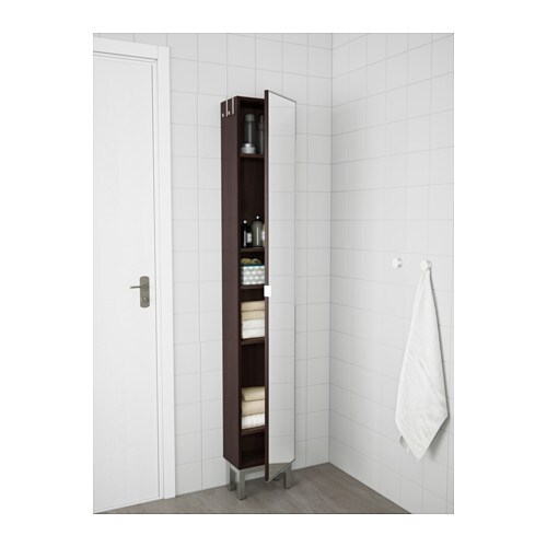 Lill ngen high cabinet with mirror door black brown 30x21x179 cm ikea - Placard a balai ikea ...