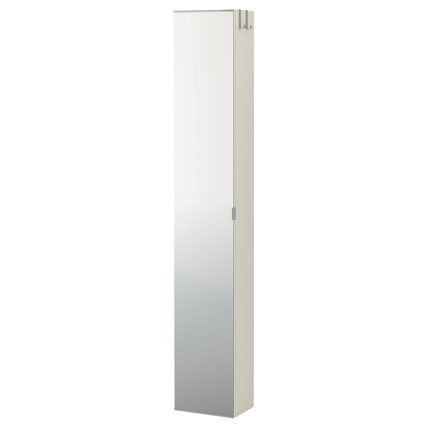 Lill ngen high cabinet with mirror door white 30x21x179 cm for Slim mirrored bathroom cabinet