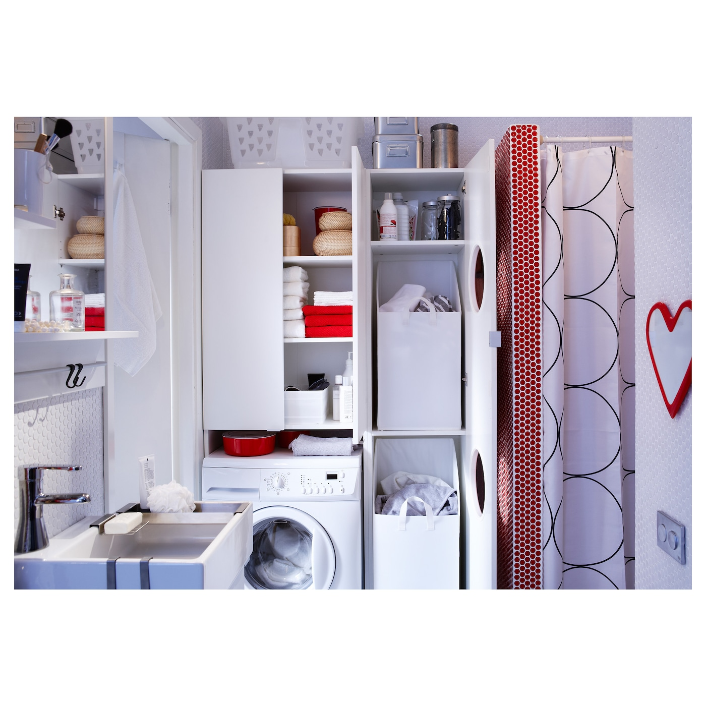 lill ngen laundry cabinet white 40x38x179 cm ikea. Black Bedroom Furniture Sets. Home Design Ideas