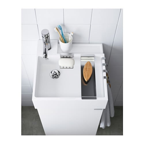 IKEA LILL NGEN single wash basin 10 year guarantee  Read about the terms in the. LILL NGEN Single wash basin White 40x41x13 cm   IKEA