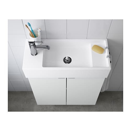 Lill Ngen Single Wash Basin White 60x27x14 Cm Ikea