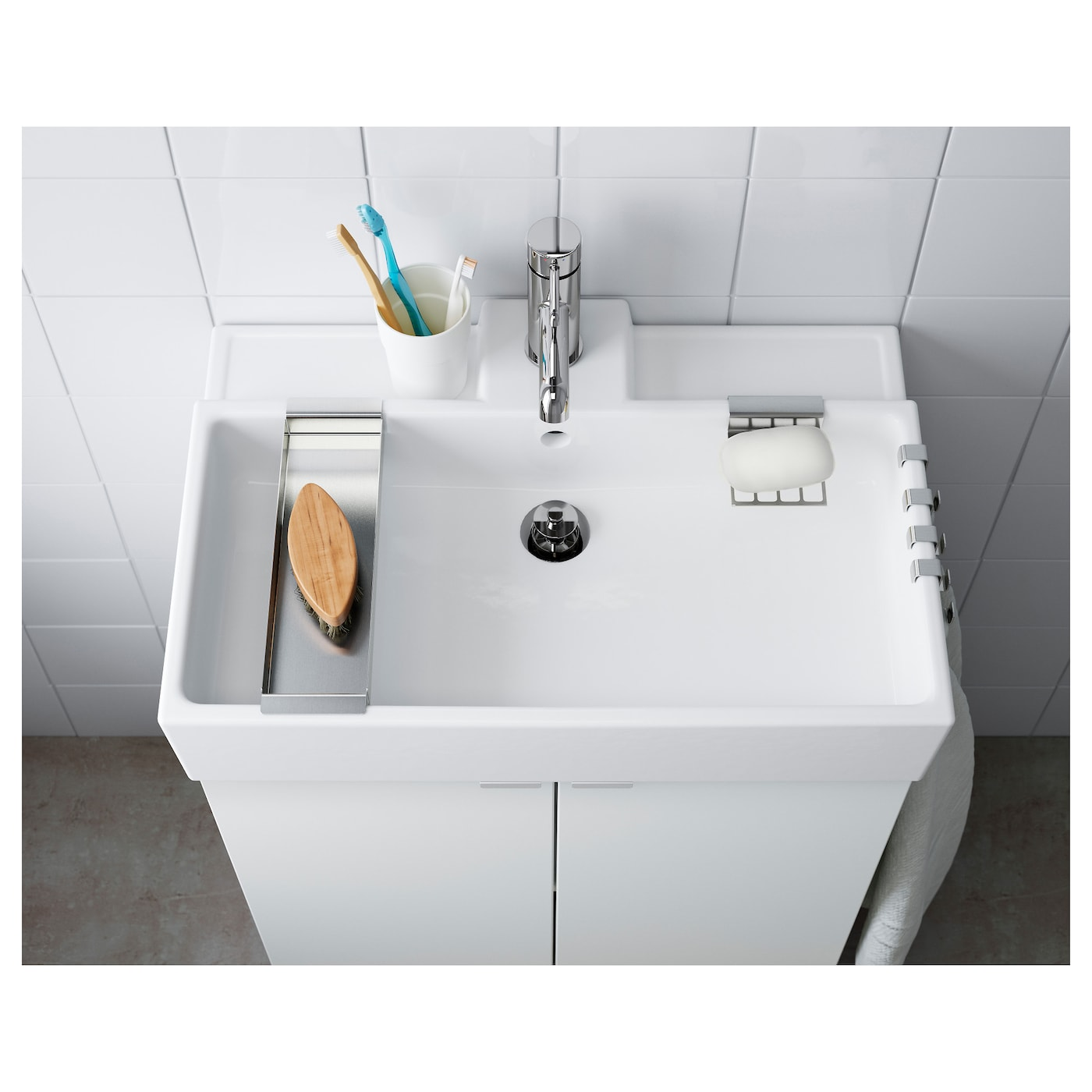 IKEA LILLÅNGEN single wash-basin 10 year guarantee. Read about the terms in the guarantee brochure.