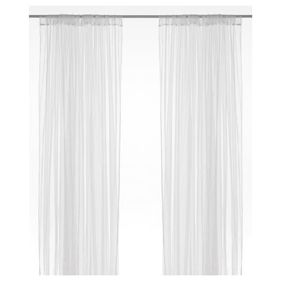 LILL Net curtains, 1 pair, white, 280x250 cm