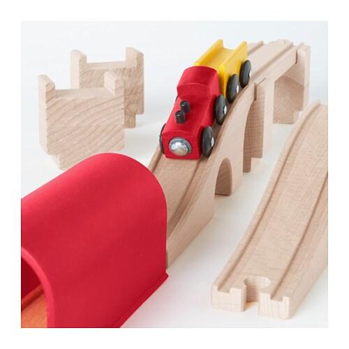 lillabo 12 piece train set bridge tunnel ikea. Black Bedroom Furniture Sets. Home Design Ideas