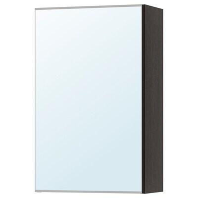 LILLÅNGEN mirror cabinet with 1 door black-brown 40 cm 21 cm 64 cm