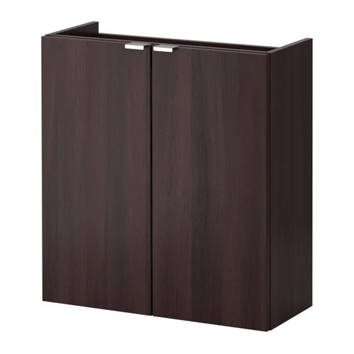 lill ngen wash basin cabinet with 2 doors black brown