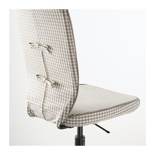 IKEA LILLHÖJDEN swivel chair You sit comfortably since the chair is adjustable in height.