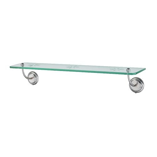 LILLHOLMEN Glass shelf IKEA Concealed mounting fittings.