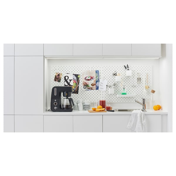 LILLTRÄSK Worktop, white/laminate, 123x2.8 cm
