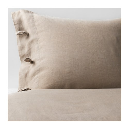 IKEA LINBLOMMA quilt cover and 2 pillowcases
