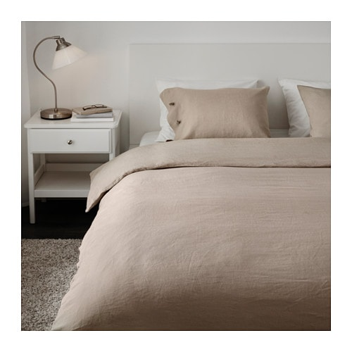 linblomma quilt cover and 4 pillowcases natural colour. Black Bedroom Furniture Sets. Home Design Ideas