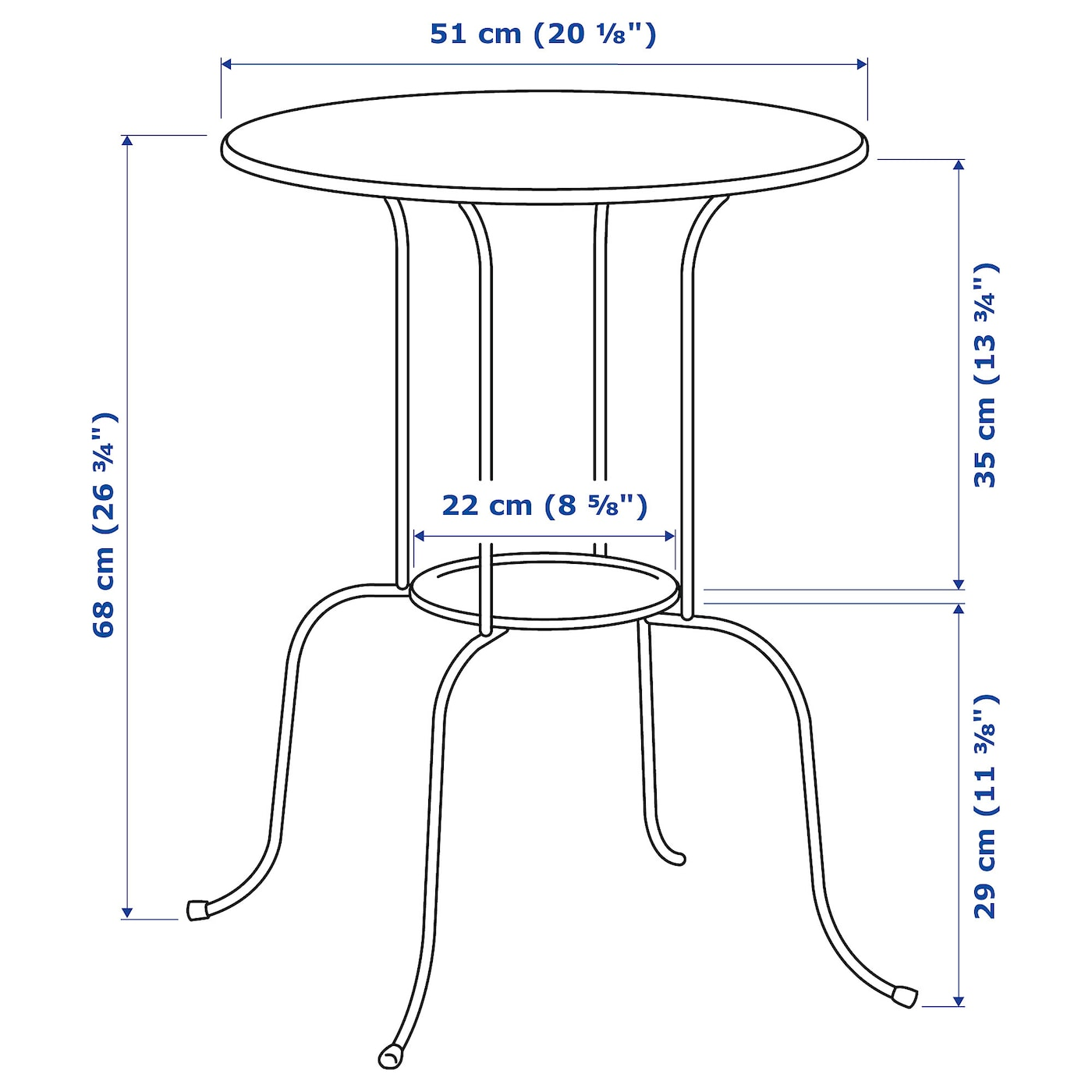IKEA LINDVED side table The table is easy to move where you like, since it's both light and stable.