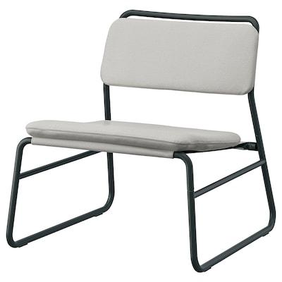 LINNEBÄCK Easy chair, Ramna light grey