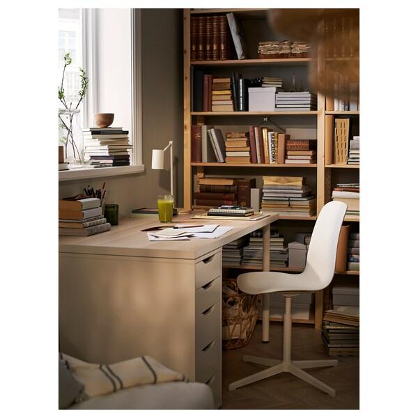 LINNMON / ALEX table white white stained oak effect/white 150 cm 75 cm 73 cm 50 kg