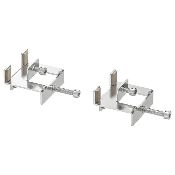 LINNMON connecting fitting nickel-plated 2 pack