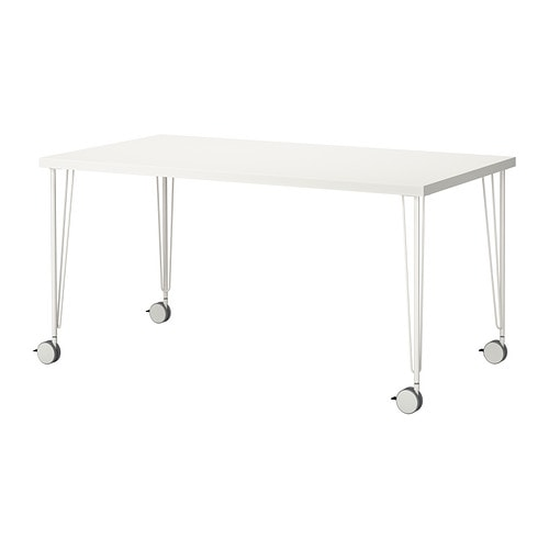 linnmon krille table white 150x75 cm ikea