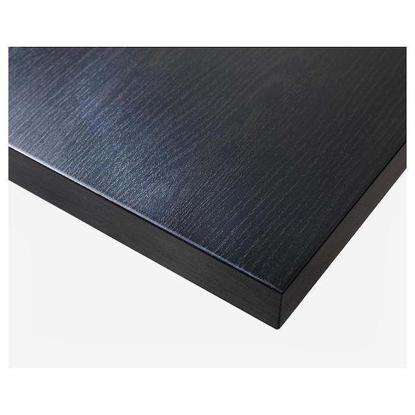 LINNMON Table top, black-brown, 100x60 cm
