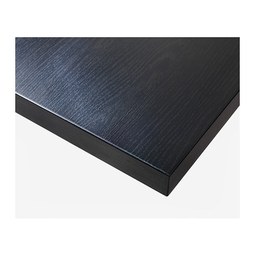 Linnmon table top black brown 100x60 cm ikea for Table 120x80