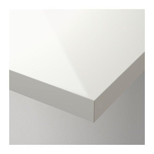 Linnmon table top high gloss white 120x60 cm ikea - Table blanc laque ikea ...