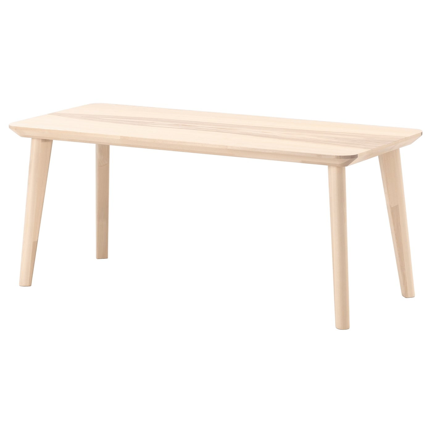 Lisabo coffee table ash veneer 118x50 cm ikea for Table en pin ikea