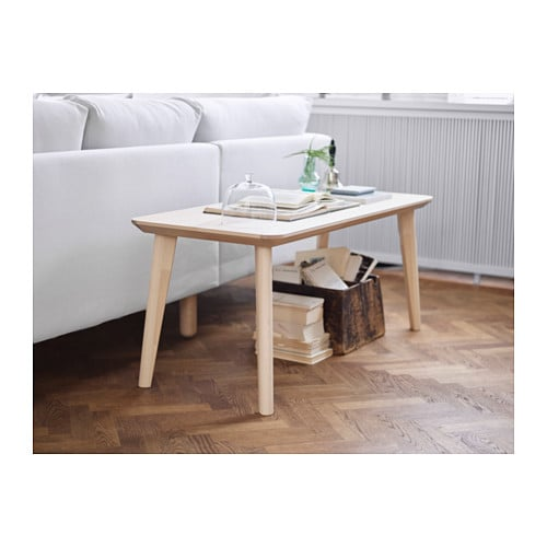 Lisabo coffee table ash veneer 118x50 cm ikea - Table basse noir laque ikea ...