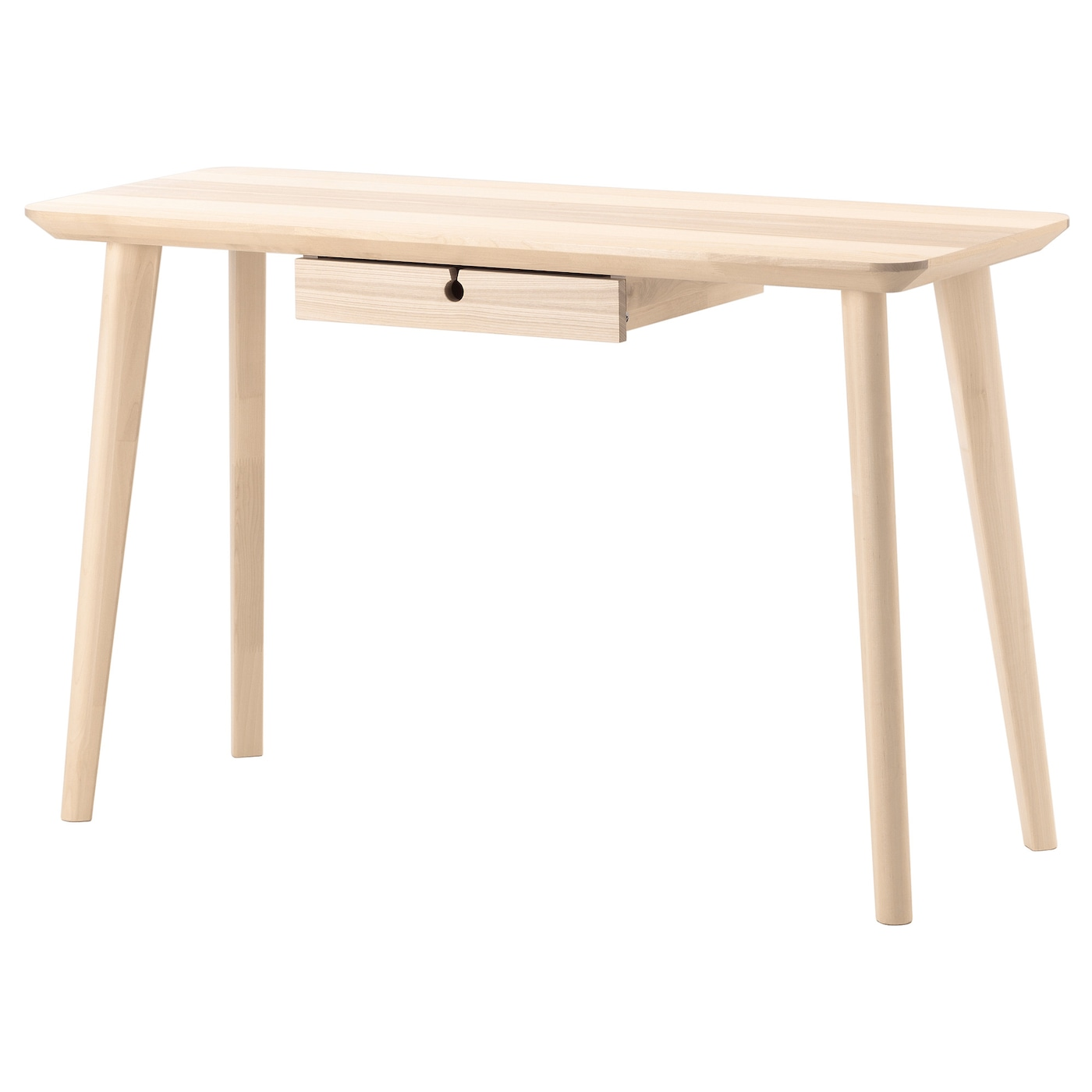 Lisabo desk ash veneer 118x45 cm ikea for Ikea drawing desk
